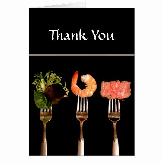 Thank You for Dinner Images Fresh Dinner Party Thank You Card