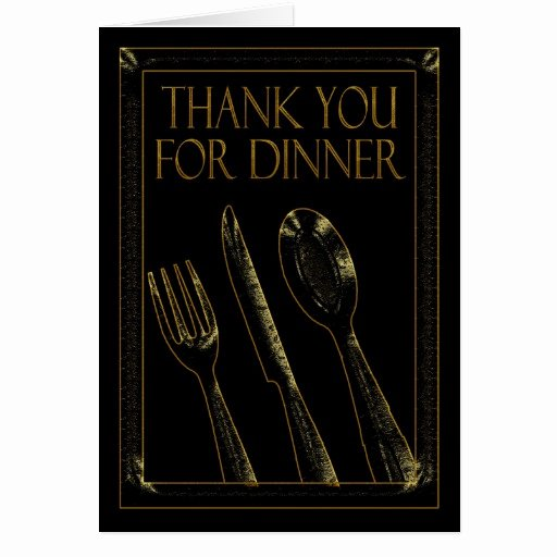 Thank You for Dinner Images Luxury Thank You for Dinner Stylish Card Black and Gold