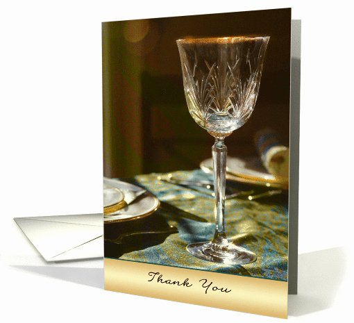 Thank You for Dinner Images Unique Thank You for Dinner Elegant Glass Dinner Table Card