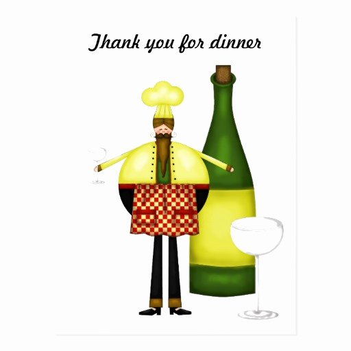 Thank You for Dinner Inspirational Chelf Thank You for Dinner Post Card