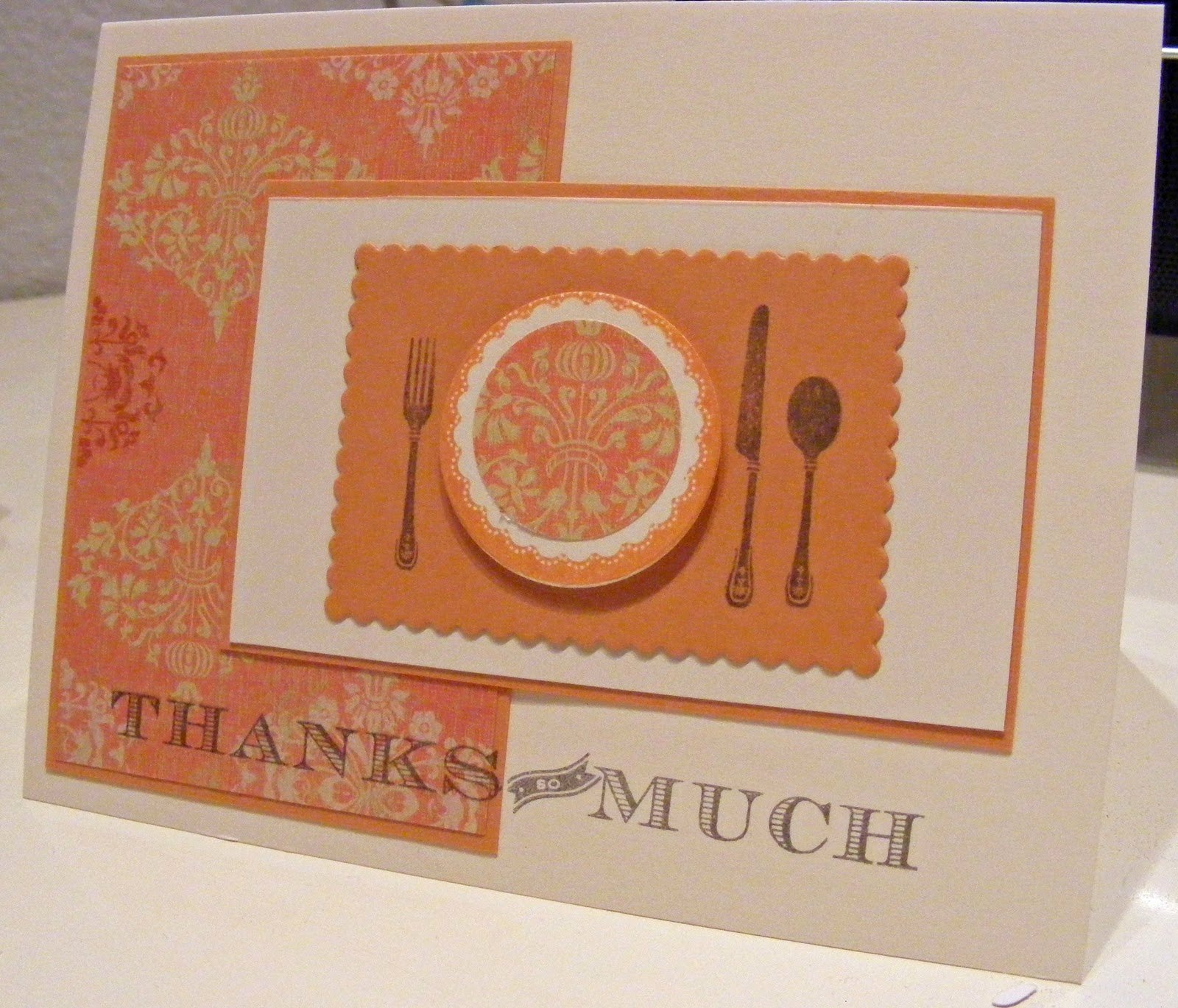 Thank You for Dinner Inspirational Creative Pursuits Thank You for Dinner Card