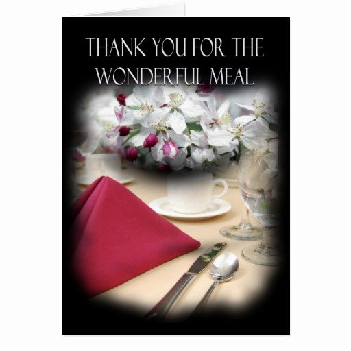 Thank You for Dinner Inspirational Thank You for Dinner Stylish Card