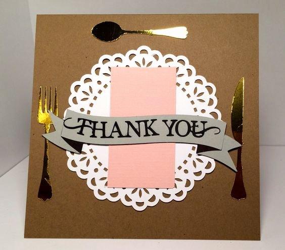 Thank You for Dinner Lovely Thank You for Dinner Card Everydaypaper