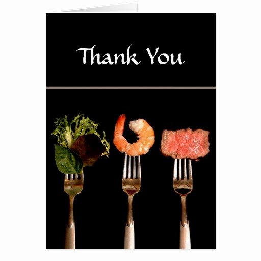 Thank You for Dinner Luxury Dinner Party Thank You Card