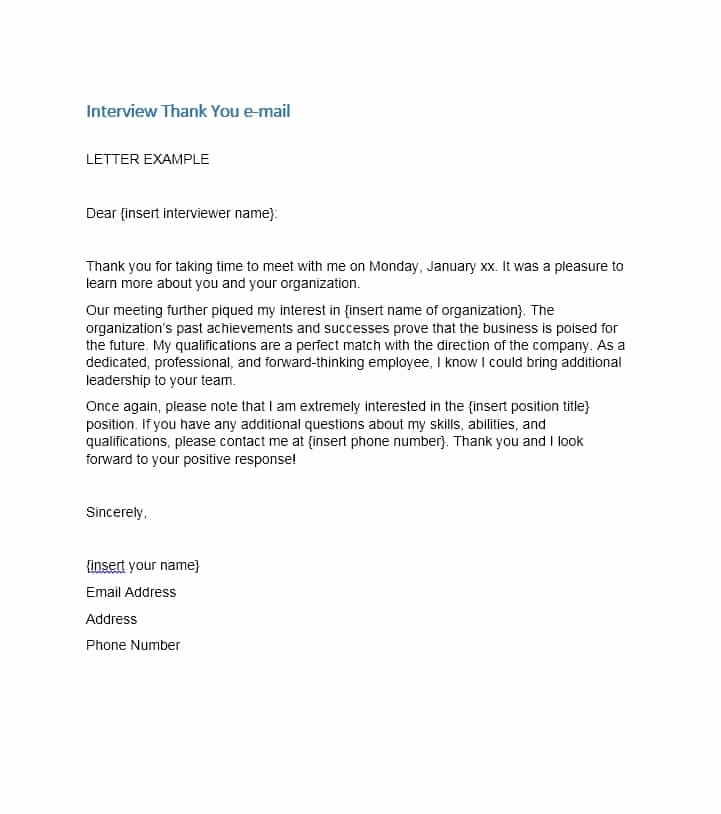 Thank You for Interview Sample Beautiful 40 Thank You Email after Interview Templates Template Lab