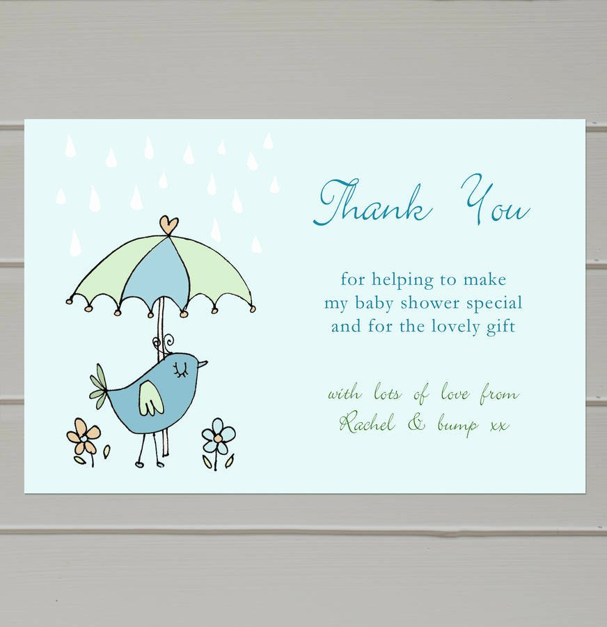 Thank You Letter Baby Shower Awesome Personalised Baby Shower Thank You Cards by Molly Moo