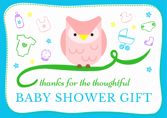 Thank You Letter Baby Shower Elegant Baby Shower Thank You Note Wording