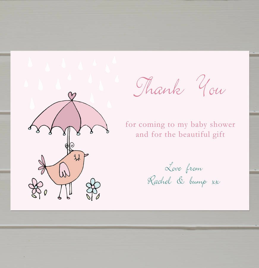 Thank You Letter Baby Shower Elegant Personalised Baby Shower Thank You Cards by Molly Moo