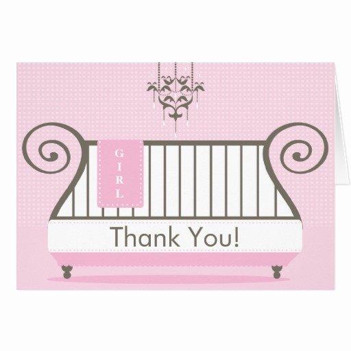 Thank You Letter Baby Shower Fresh Elegant Baby Crib Baby Shower Thank You Note Card