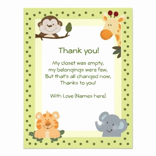 Thank You Letter Baby Shower Inspirational Baby Shower Thank You Wording