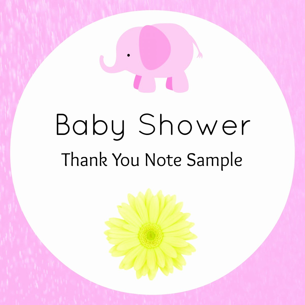 Thank You Letter Baby Shower New Baby Shower Thank You