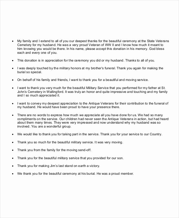 Thank You Letter for Funeral Beautiful Free 24 Note Examples In Pdf Doc