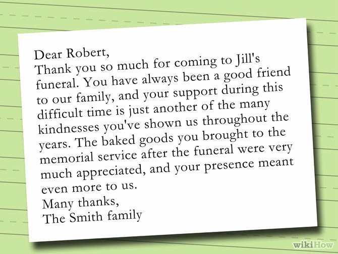 Thank You Letter for Funeral Elegant How to Write A Thank You Note after A Funeral with Sample