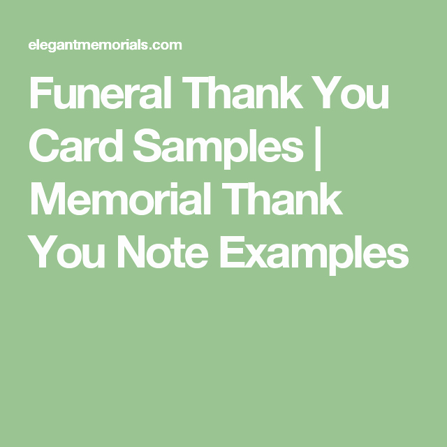 Thank You Letter for Funeral Fresh Funeral Thank You Card Samples