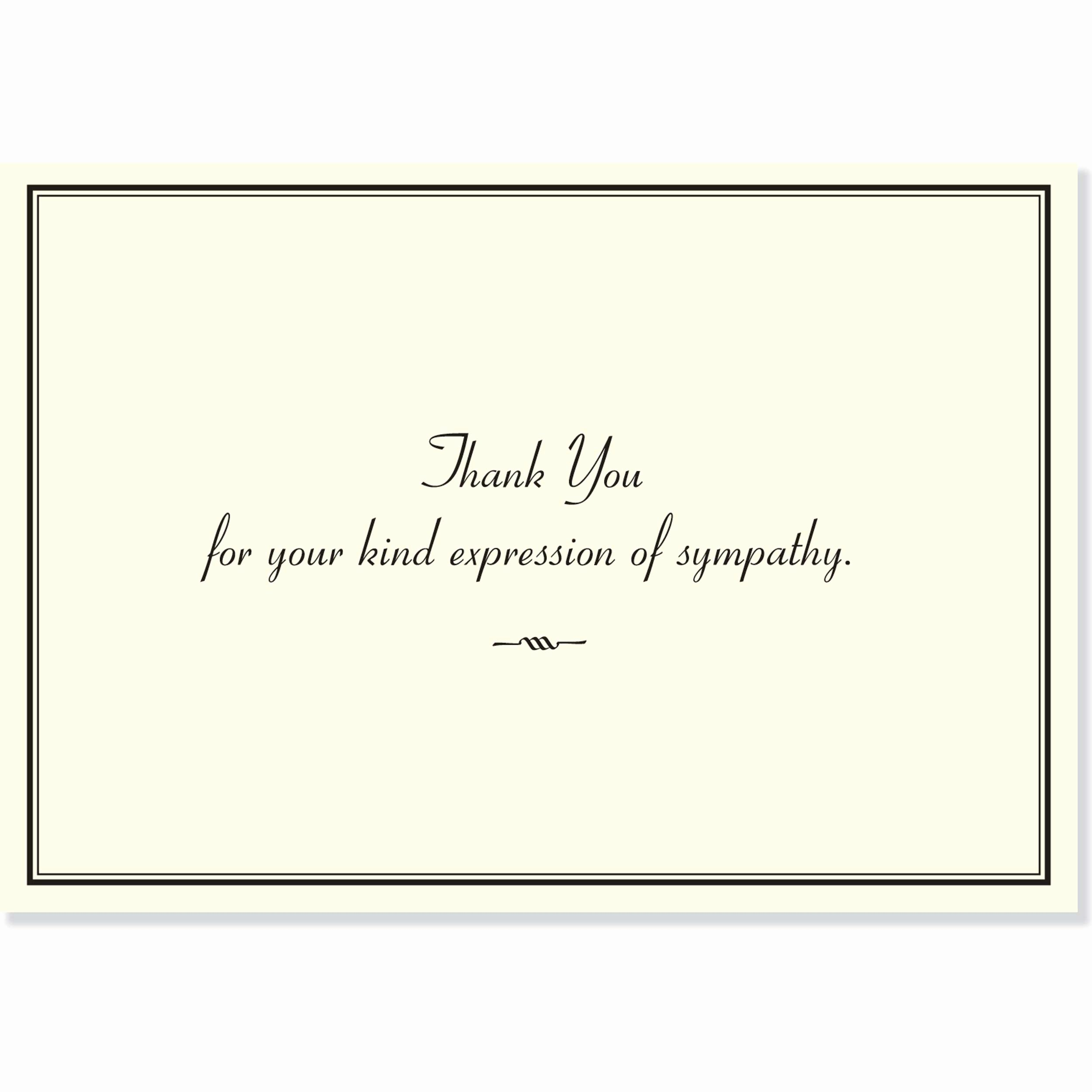 Thank You Letter for Funeral Luxury Sympathy Thank You Notes Stationery Note Cards Peter