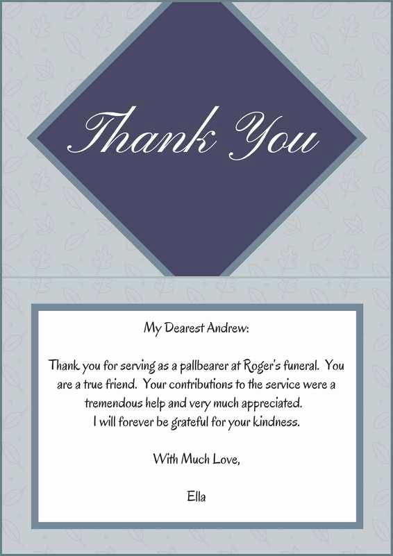 Thank You Letter for Funeral New 33 Best Funeral Thank You Cards