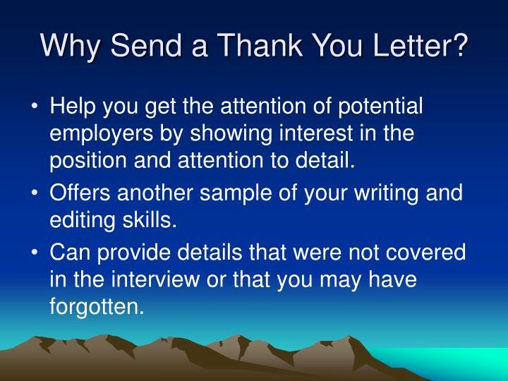 Thank You Letter for Presentation Luxury Ppt Developing A Thank You Letter Following A Job