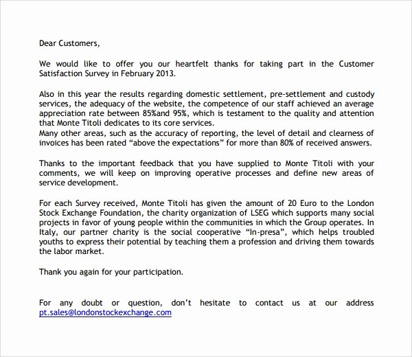 Thank You Letter to Client Lovely Sample Customer Thank You Letter 9 Download Free