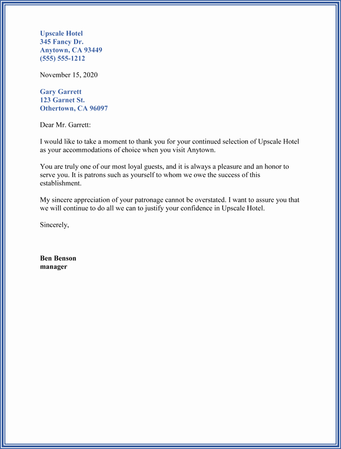 Thank You Letter to Client Luxury Customer Thank You Letter 5 Sample Letter Templates