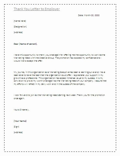 Thank You Letter to Employer Elegant Examples Thank You Letters to Employers