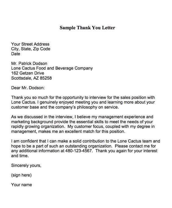 Thank You Letter to Employer Inspirational Thank You Letters are Used to Express Appreciation to An