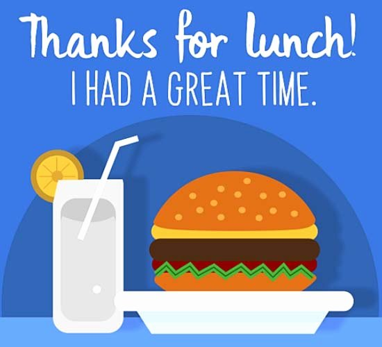 Thank You Lunch Invitation Awesome Thanks for Lunch Free Invitations Ecards Greeting Cards
