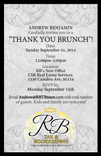 "Thank You Lunch Invitation Fresh Client Appreciation Party ""thank You Brunch"" Invite"