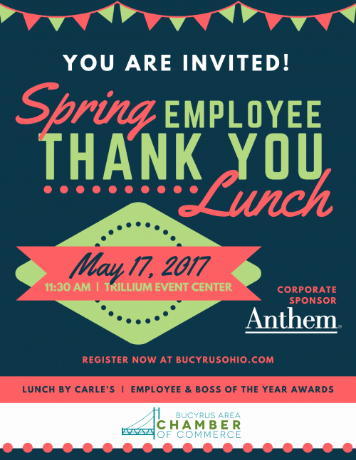 Thank You Lunch Invitation Fresh Thank You Lunch – Bucyrus area Chamber Of Merce