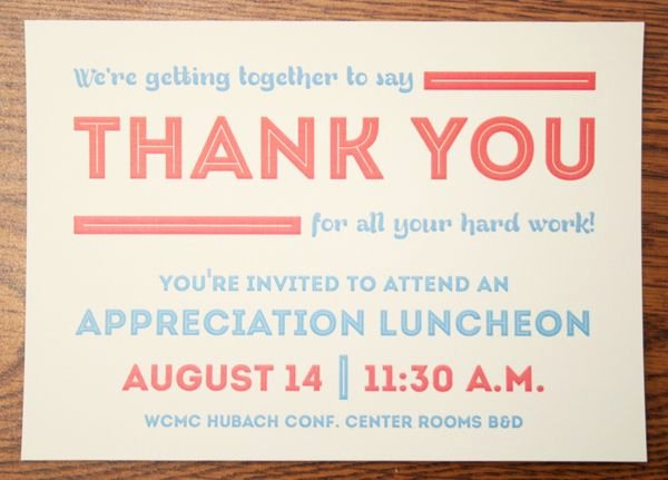 Thank You Lunch Invitation Inspirational Appreciation Luncheon Invitation by Brian Hodges Via
