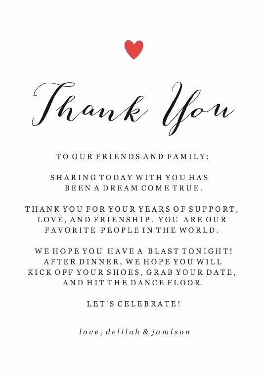 Thank You Note after Dinner Elegant Wedding Printables and Free Wedding Templates