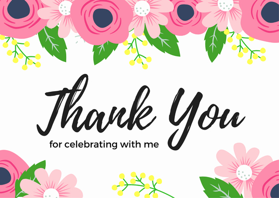 Thank You Note after Dinner New Birthday Thank You Card Wording Examples