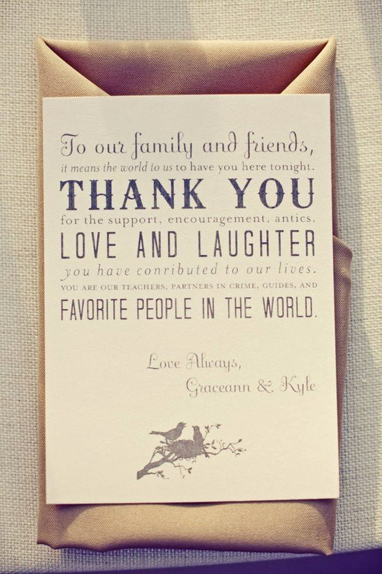 Thank You Note after Dinner New Wedding Etiquette Thank You Notes for Your Guests