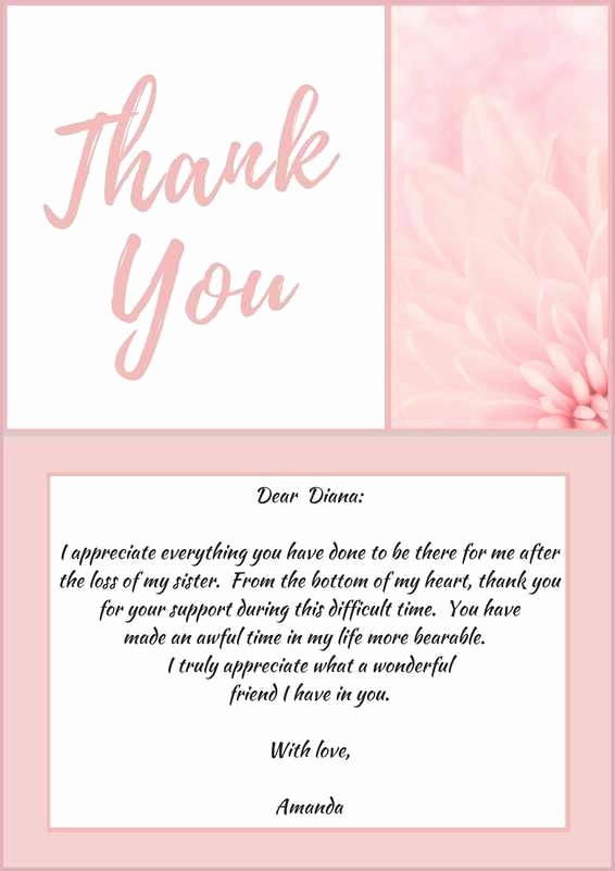 Thank You Note after Dinner Unique 33 Best Funeral Thank You Cards