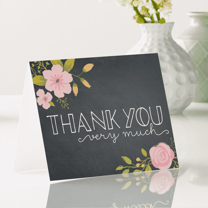 Thank You Note after Dinner Unique Thank You Cards Wedding Thank You Cards