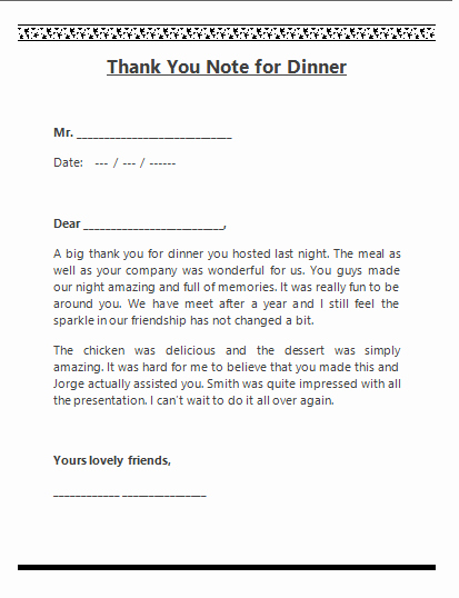 Thank You Note for Presentation Awesome Free Word Templates