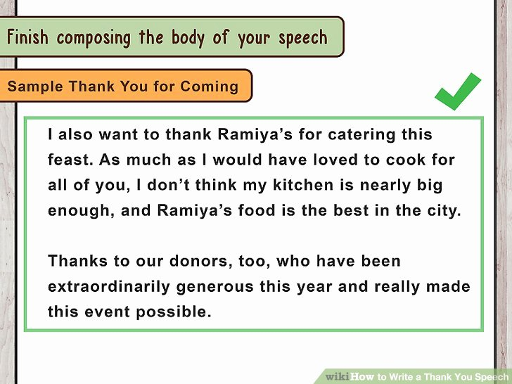 Thank You Note for Presentation Best Of How to Write A Thank You Speech with Wikihow