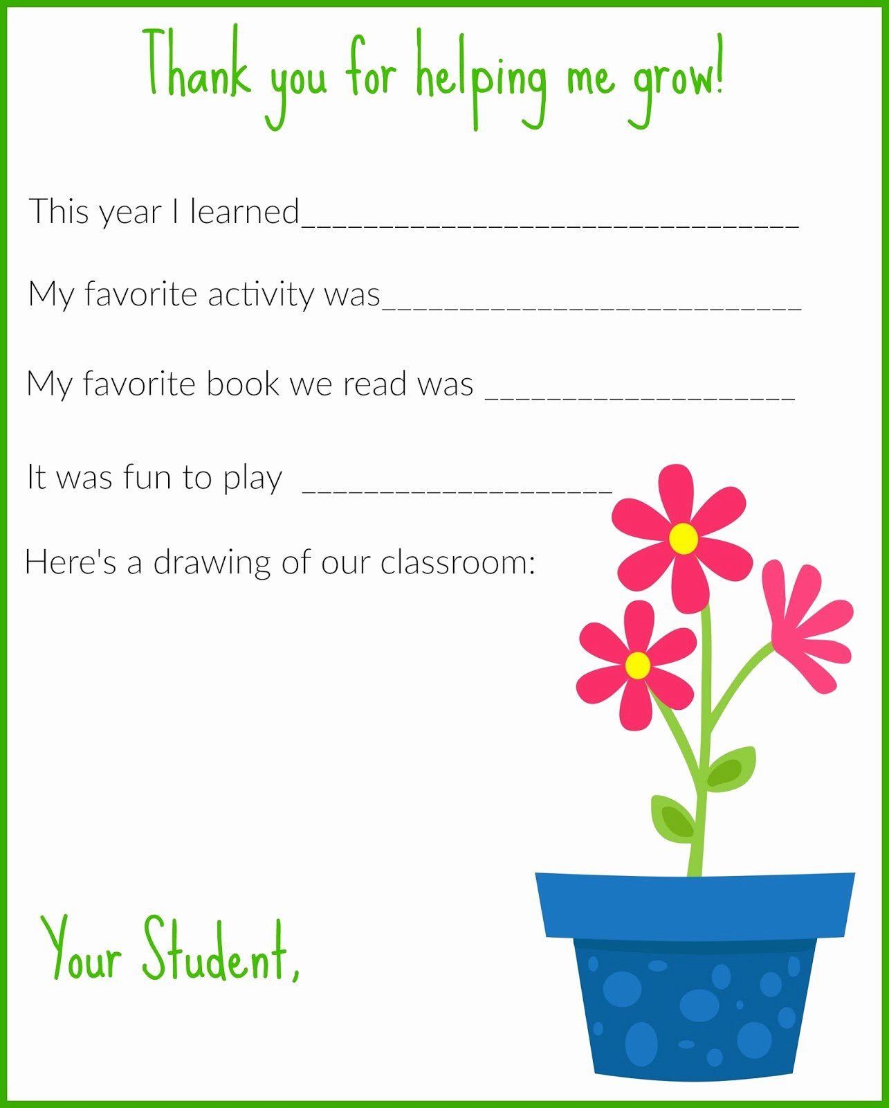 Thank You Note Teacher Inspirational A Thank You Letter for Teachers Free Printable the