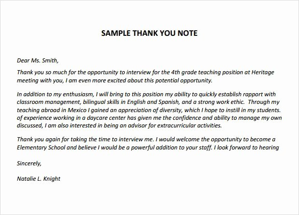 Thank You Note Teacher Inspirational Best 20 Sample Thank You Notes Ideas On Pinterest