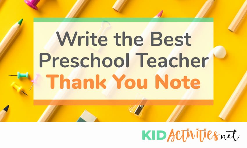 Thank You Note Teacher Lovely Write A Thank You Note to Preschool Teacher [plus Thank