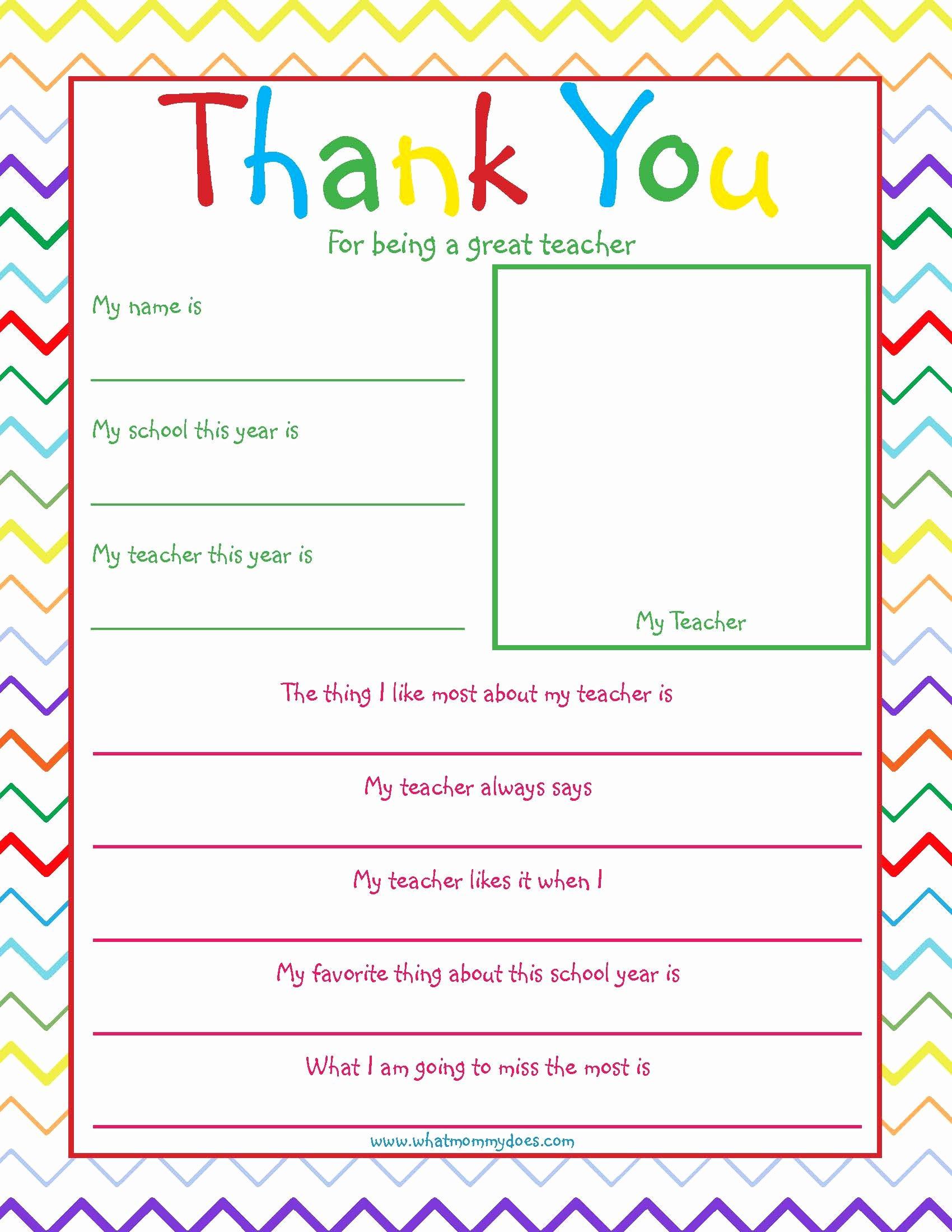 Thank You Note Teacher Luxury Free Printable Teacher Thank You Note so Cute What