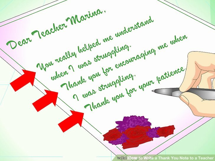 Thank You Note Teacher Luxury How to Write A Thank You Note to A Teacher with Sample Notes