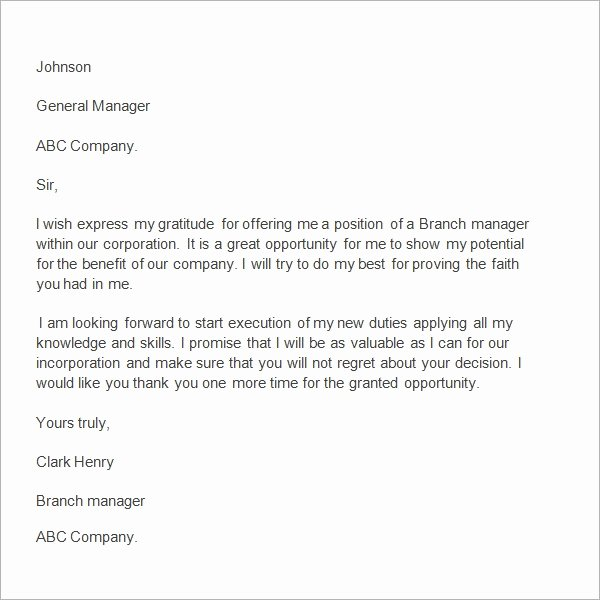 Thank You Note to Manager Awesome 24 Sample Thank You Letter Templates to Boss Pdf Doc