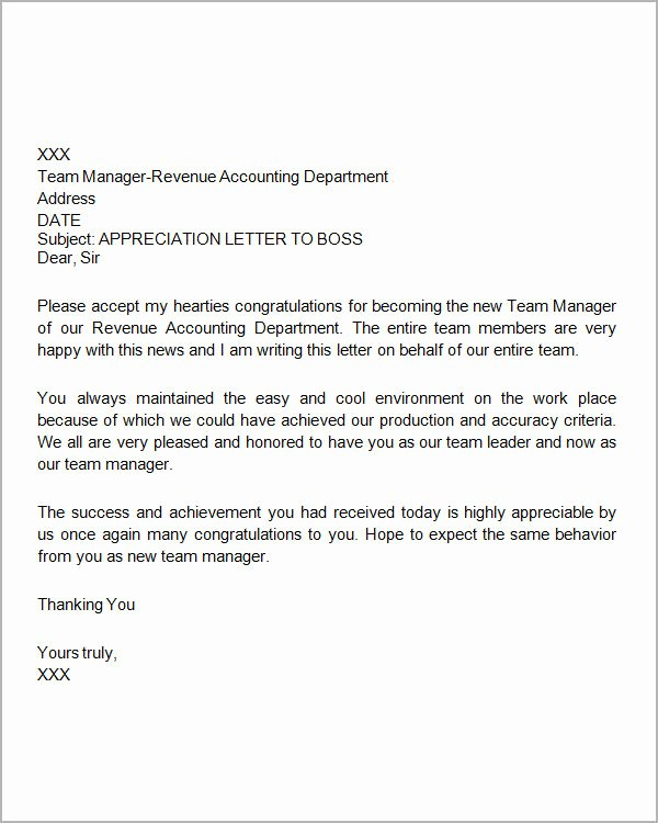 Thank You Note to Manager Best Of Sample Thank You Letter to Boss 16 Free Documents