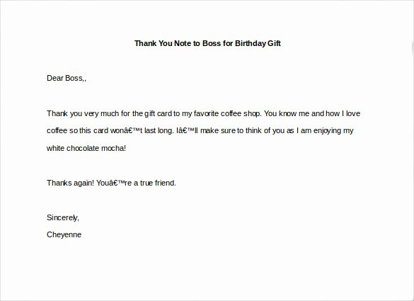 Thank You Note to Manager Lovely 10 Thank You Notes to Boss Pdf Doc
