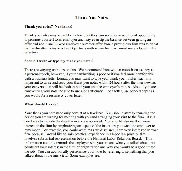 Thank You Note to Manager Lovely Sample Thank You Note to Boss 6 Documents In Pdf Word