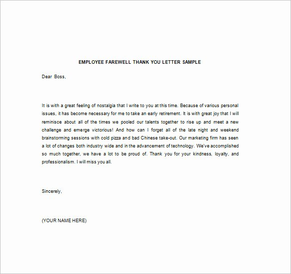 Thank You Note to Manager Luxury Thank You Note to Boss – 10 Free Word Excel Pdf format