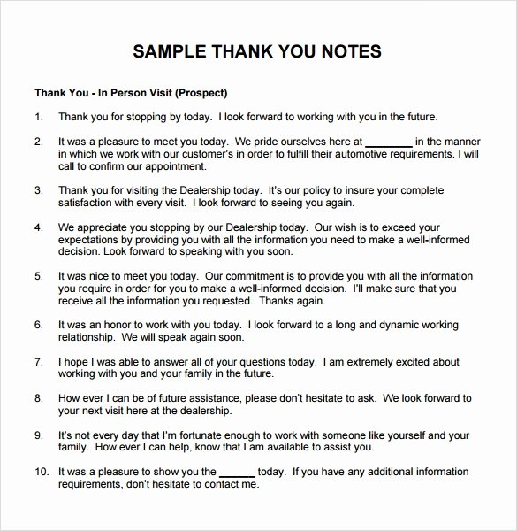 Thank You Note to Manager New Sample Thank You Note to Boss 6 Documents In Pdf Word