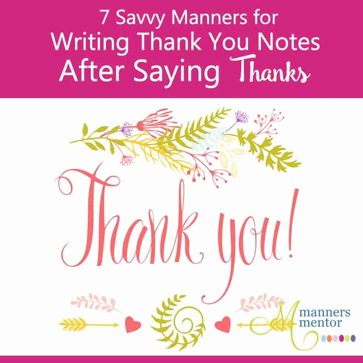 Thank You Note to Mentor Elegant Writing Thank You Notes after Saying Thanks 7 Savvy Manners