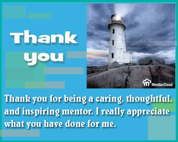 Thank You Note to Mentor Luxury About Mentoring