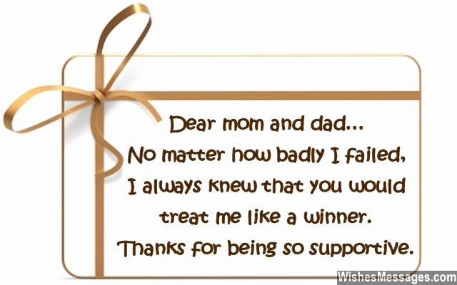 Thank You Note to Parents Fresh Thank You Notes for Parents Messages for Mom and Dad